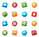 Police icons set. Police color icon for web sites and user interfaces Stock Photo