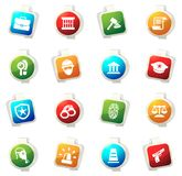 Police icons set. Police color icon for web sites and user interfaces Royalty Free Stock Images