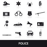 Police icons set eps10. 16 police icons set eps10 Stock Image