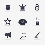 Police Icons set. illustration. Police Icons set. Vector illustration Royalty Free Stock Photo
