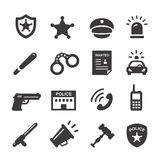 Police icons set Royalty Free Stock Image
