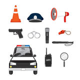Police Icons Set Stock Image