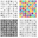 100 police icons set vector variant. 100 police icons set vector in 4 variant for any web design isolated on white Royalty Free Stock Images
