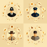 Police icons Stock Images