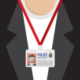 Police Id Card. Royalty Free Stock Images