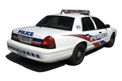 Police Interceptor. A new North American police interceptor isolated on white. (This JPEG file includes a clipping path to isolate the vehicle and the shadow stock images