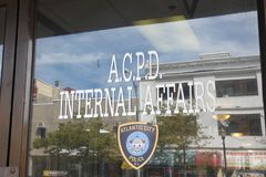 Police Internal Affairs. The office of internal affairs of the Atlantic City Police Department. Internal affairs investigates incidents and possible suspicions Stock Image
