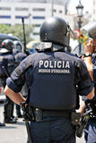 Police intervention, Barcelona, Spain Royalty Free Stock Image