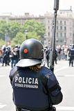 Police intervention, Barcelona, Spain Royalty Free Stock Photography