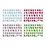 Police isométrique d'alphabet Images libres de droits