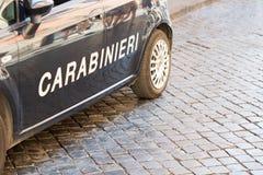Police italienne Carabineri à Rome photos libres de droits