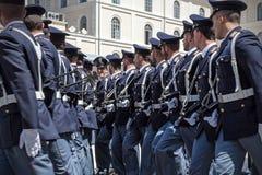 Police italienne sur le défilé Photographie stock libre de droits