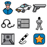 Police and jail icons Royalty Free Stock Photo