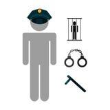 Police job Stock Photography