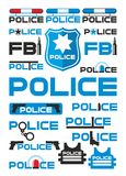 Police And Justice Logotypes Set Royalty Free Stock Photography