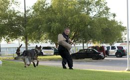 Police K-9 Demonstration. At Escambia County Sheriff in Pensacola, Florida Stock Image