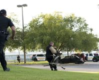 Police K-9 Demonstration. At Escambia County Sheriff in Pensacola, Florida Stock Images