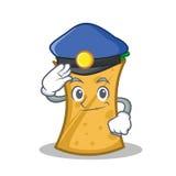 Police kebab wrap character cartoon. Vector illustration royalty free illustration