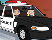 Police Kids On Duty Stock Images