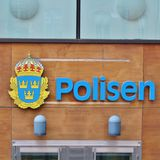 Police on Kungsholmen in Stockholm Stock Image
