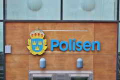 Police on Kungsholmen in Stockholm Stock Photography