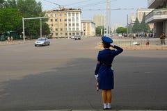 Police lady, Pyongyang, North-Korea Royalty Free Stock Photos