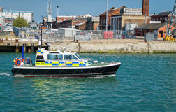 Police Launch Boat Patrolling  Stock Photos