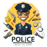 Police, law, constabulary vector logo design Stock Photo