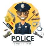 Police, law, constabulary vector logo design Stock Photo