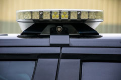 Police Law Enforcement Patrol Light SUV. Black sleek new technology of LED patrol car lights on Police Car Stock Photography