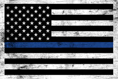 Police Law Enforcement Support Flag Background Stock Photography