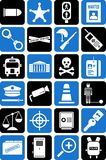 Police and law icons Stock Photo