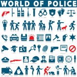 Police and law icons. On a white background with a shadow Stock Photography