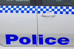 Police lettering on car Royalty Free Stock Image
