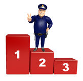 Police with 123 level. 3d rendered illustration of Police with 123 level Stock Photos