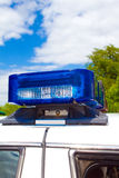 Police lights. Blue and red police roof bar lights Stock Images