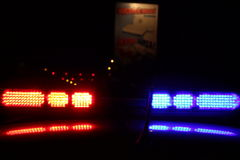 Police Lights Stock Photography