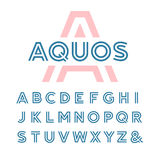 Police linéaire Alphabet de vecteur Photo libre de droits