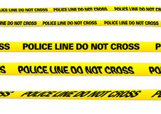Police line. Several versions of a police line with clipping paths Royalty Free Stock Image