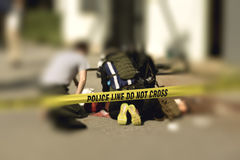 Police line with blurred medic law enforcement background. Police line cross with blurred medic law enforcement background in active shooter scenario and medical stock images