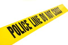 Police Line Crime Tape Stock Photo