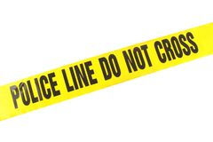 Police Line Crime Tape Stock Image