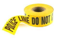Police Line Crime Tape Stock Photos