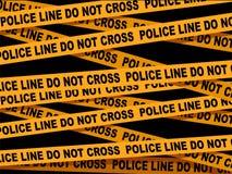 Police Line Cross Tape. Vector Illustration of Police Line Cross Tape Royalty Free Stock Photography