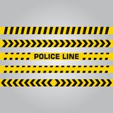 Police line and danger tape. Caution tape. Vector illustration Royalty Free Stock Photography