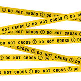 Police line do not cross tape. Vector flat style design illustration. Vector police line do not cross tape. Security ribbon Stock Photography