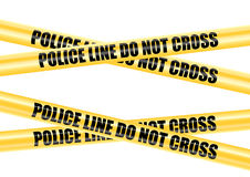 Police Line Do Not Cross tape Royalty Free Stock Images