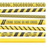 Police Line Set. Vector. Police Line Set. Different Variants. Vector illustration Stock Images