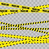 Police Line Set. Danger. stock illustration