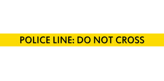 Police Line Tape. On white background Stock Photo